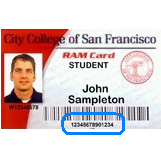 CCSF Student ID Card